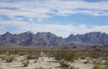 Coxcomb Mountains in eastern Joshua Tree National Park